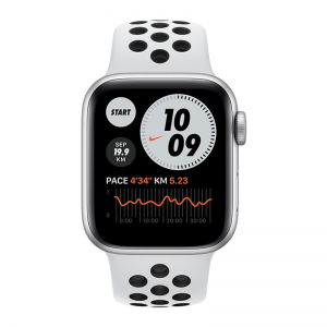 Apple Watch Series 6 Silver Aluminium Case With Nike Sport Band